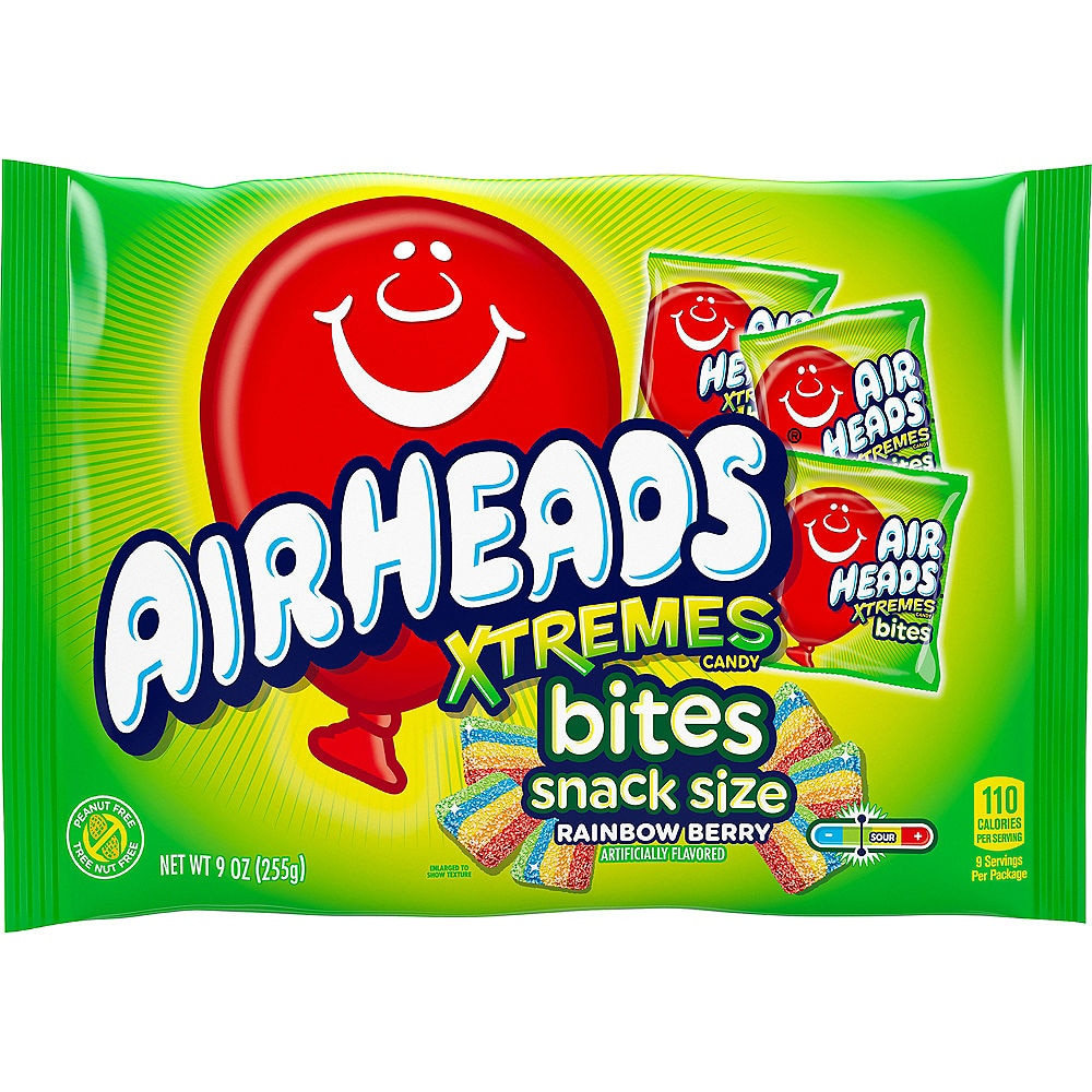 Airheads Xtreme Bites Snack Size: Big Bag (9oz) 255g - A Taste of the States