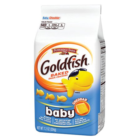 Goldfish Baby Cheddar Crackers (7.2oz) - A Taste of the States