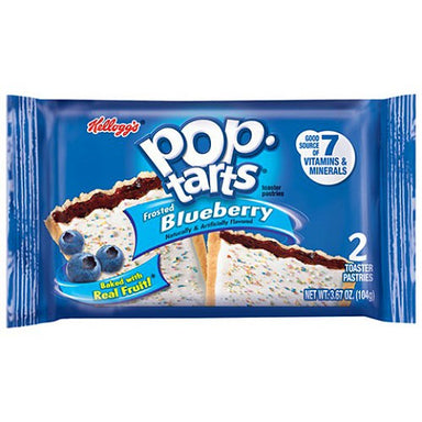 Kellogg's Pop Tarts Frosted Blueberry (2 pack) - A Taste of the States