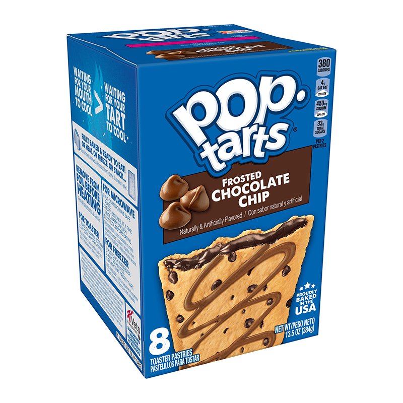 Kellogg's Pop Tarts Frosted Chocolate Chip (8 Pack) - A Taste of the States