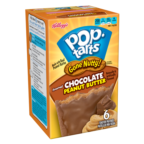 Kellogg's Pop Tarts 'Gone Nutty!' Chocolate Peanut Butter (6 pack)