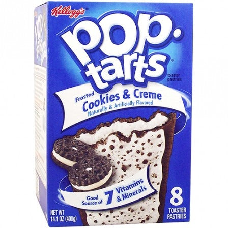 Kellogg's Pop Tarts Cookies & Creme (8 pack) - A Taste of the States