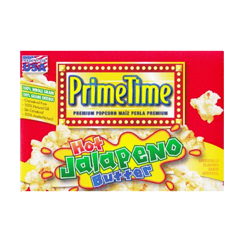 PrimeTime Premium Popcorn: Hot Jalapeno Butter (3pk) - A Taste of the States