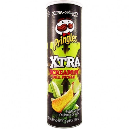 Screamin' Dill Pickle Xtra Pringles (5.96oz) - A Taste of the States