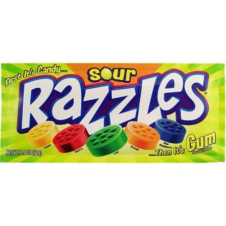 Sour Razzles (1.4oz) - A Taste of the States