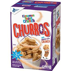Cinnamon Toast Crunch Churros Cereal GIANT 1.2kg BOX (44.25oz) - A Taste of the States
