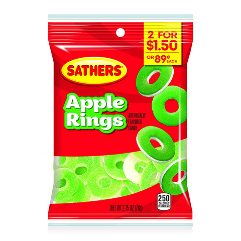 Sathers Gummallos Apple Rings (2.75oz)
