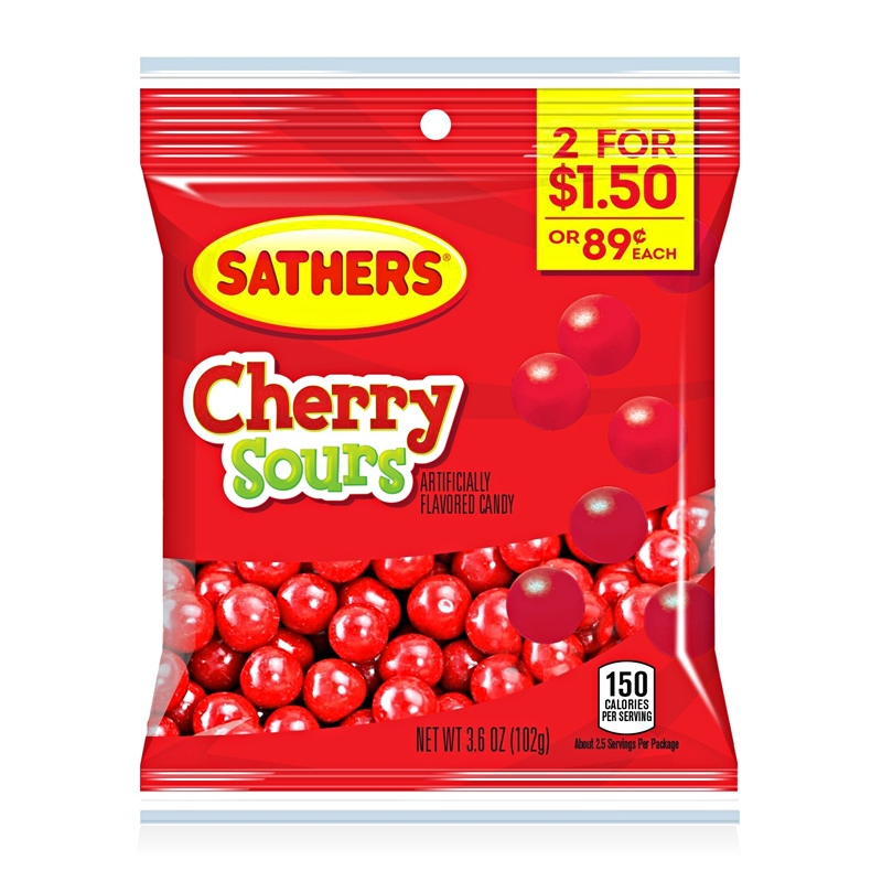 Sathers Cherry Sours (3oz) - A Taste of the States