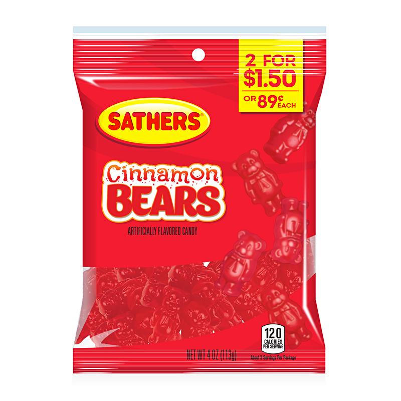 Sathers Cinnamon Bears (4oz) - A Taste of the States