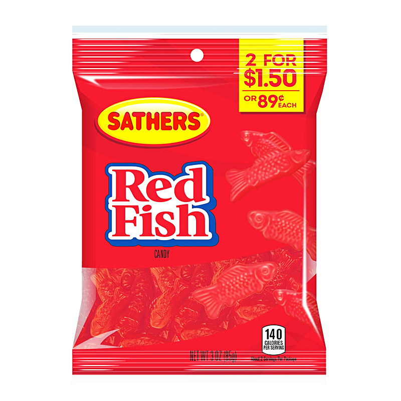 Sathers Red Fish (3oz)