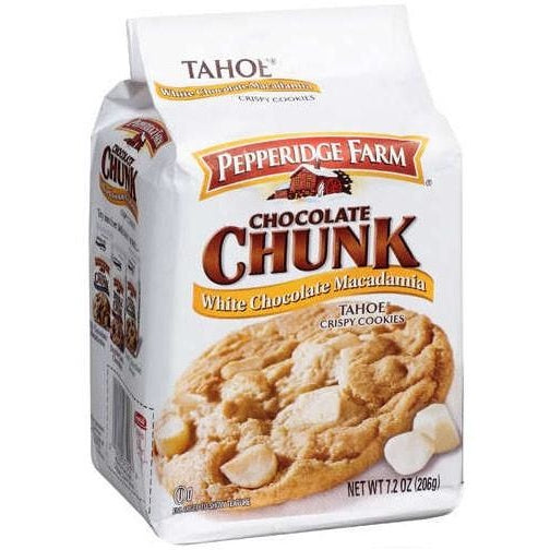 Pepperidge Farm White Chocolate Chunk Macadamia Cookies (204g) - A Taste of the States