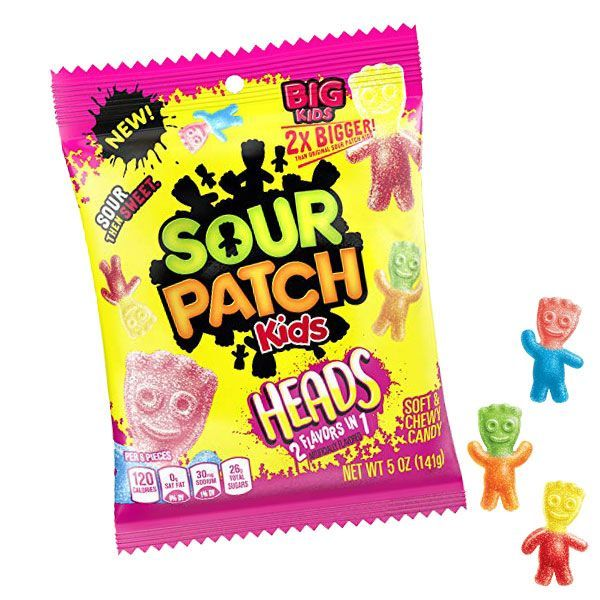 Sour Patch Kids 2-in-1 Heads (5oz) - A Taste of the States