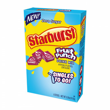 Starburst Fruit Punch Singles-to-Go (12.2g) - A Taste of the States