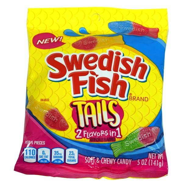 Swedish Fish 2-in-1 Tails (5oz) - A Taste of the States