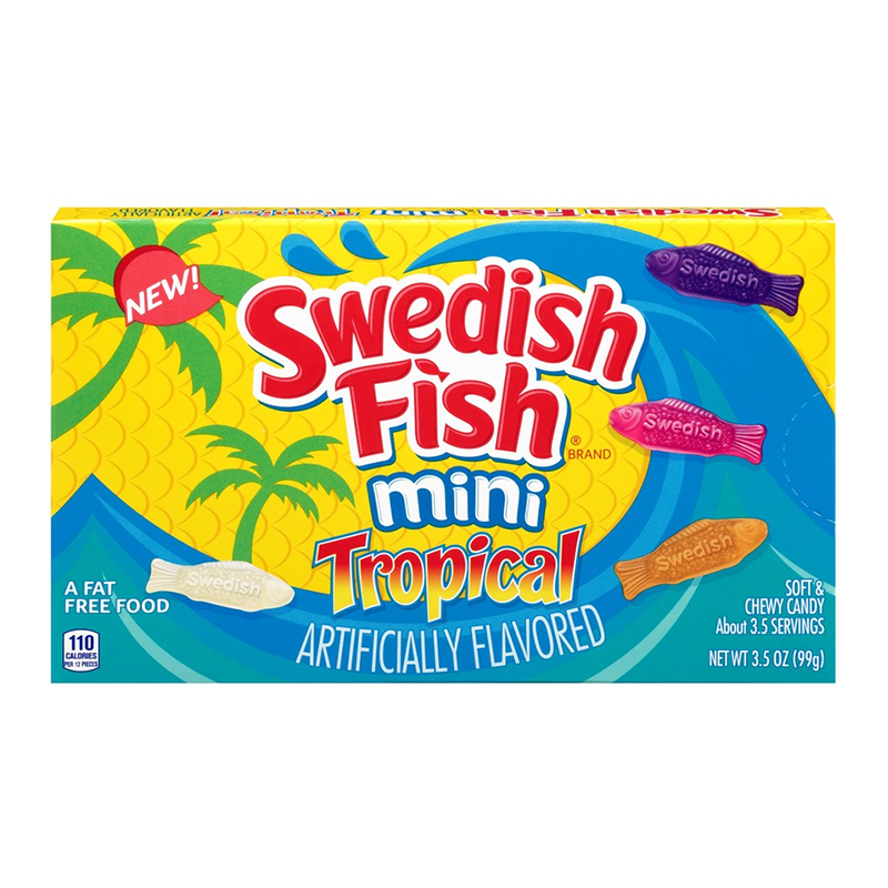 Swedish Fish Tropical Theater Box (3.5oz) - A Taste of the States