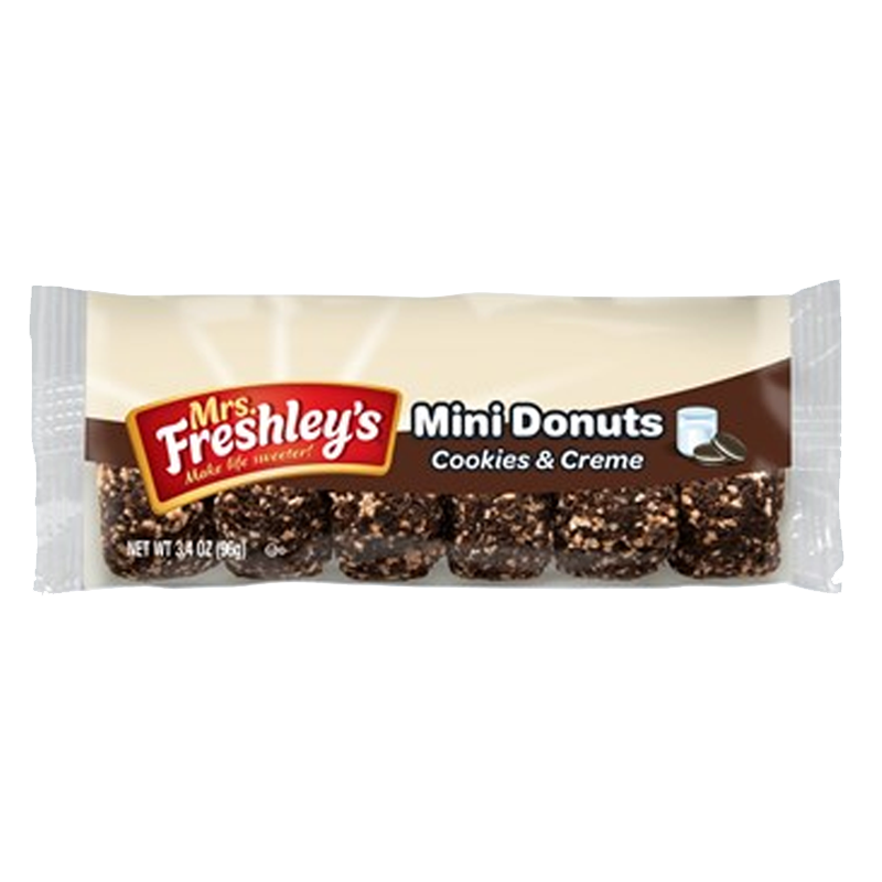 Mrs Freshley's Cookies & Creme Mini Donuts (6pk)