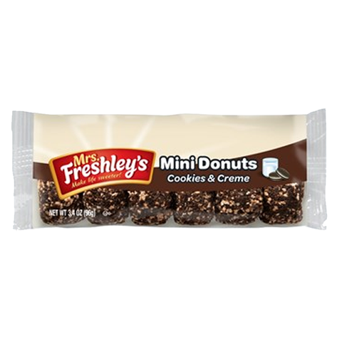 Mrs Freshley's Cookies & Creme Mini Donuts (6pk) - A Taste of the States
