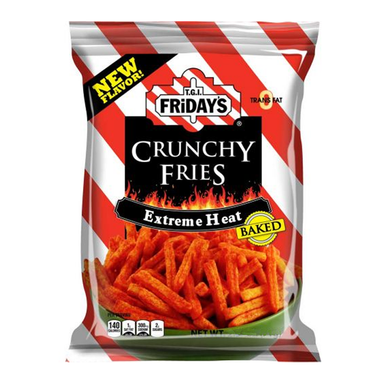 TGI Fridays Extreme Heat Crunchy Fries (4.5oz) - A Taste of the States