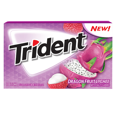 Trident Dragonfruit Lychee Gum (14pc) - A Taste of the States