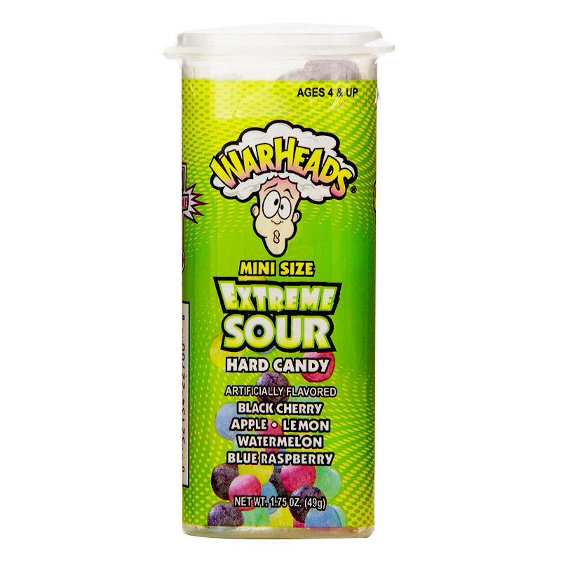 Warheads Mini Size Extreme Sour Hard Candy (49g)