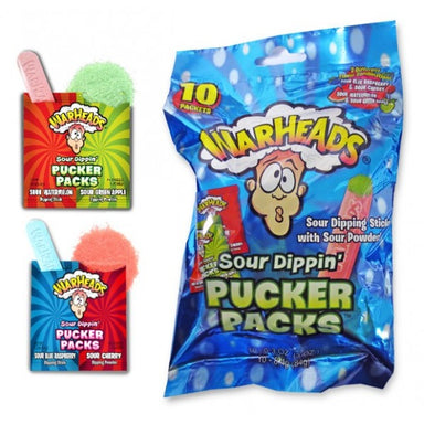 Warheads Sour Dippin' Pucker Packs 3oz - A Taste of the States