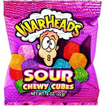 Warheads Sour Chewy Cubes Mini (22g) - A Taste of the States