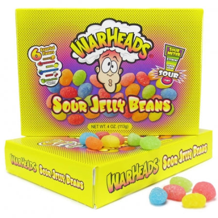 Warheads Extreme Sour Jelly Beans Theater Box (4oz) 113g - A Taste of the States