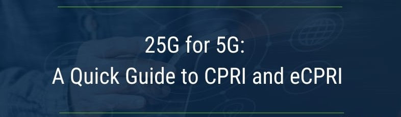 The difference between CPRI and eCPRI used in 5G