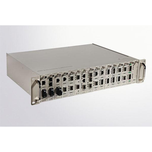2U 16 Slots Manageable Chassis For Fiber Media Converter Managed Converters