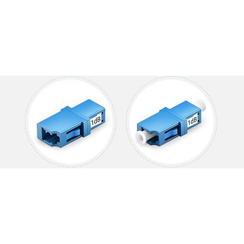 Customized LC/SC/FC/ST Single Mode Fixed Flanged Fiber Optic Attenuator, Female to Female, 1~25dB