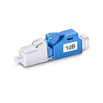 LC-UPC Single Mode Fixed Fiber Optic Attenuator, Male-Female, 1~15dB (10pcs-Pack)