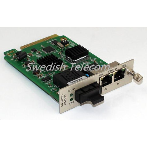 10/100/1000M 1-Sfp+2Tp Media Converter Sfp To 2Rj45 Local Card Managed Converters