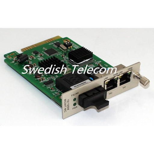 10/100M 1Fx+2Tp Media Converter Fx:sm 1310Nm 20Km Sc Local Card Managed Converters