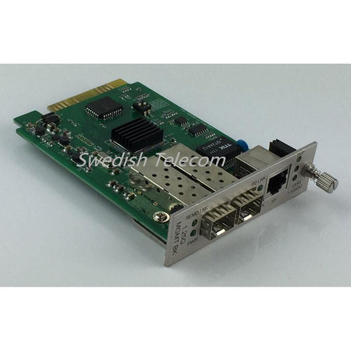 2×1.25G Sfp To 10/100/1000M Tx Local Card Managed Media Converters