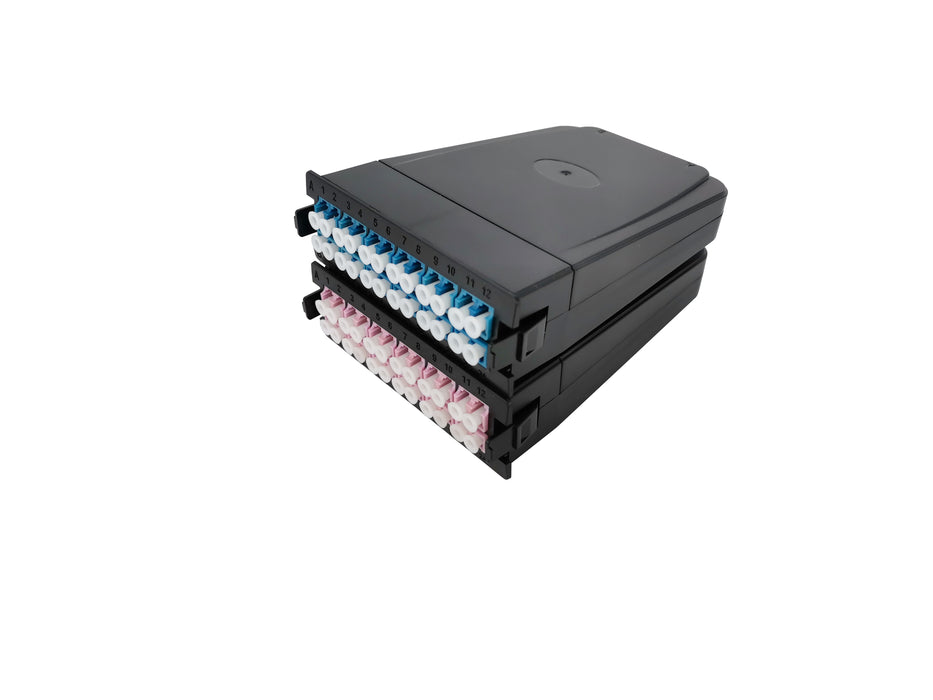 MTP-24 to 12x LC Duplex, Type A, 24 Fibers OS2 Single Mode FHD MTP Cassette