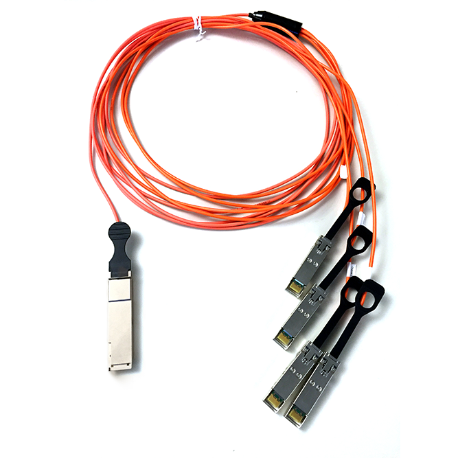 40G Qsfp+ To 4X10G Sfp+ Breakout Active Optical Cable 1M 4X Aoc