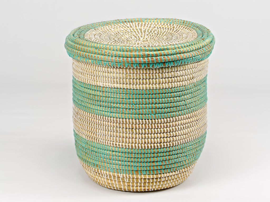 Handwoven Storage Basket with Lid