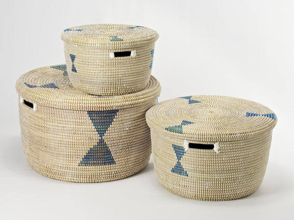 round-storage-baskets-blue-diamonds