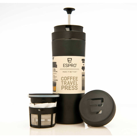 Espro Stainless Steel Travel Press with Coffee Filter, 350ml