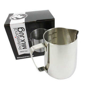Rhinowares Professional Milk Jug 360ml (12oz)