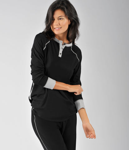 Long Sleeve Pullover PJ Set