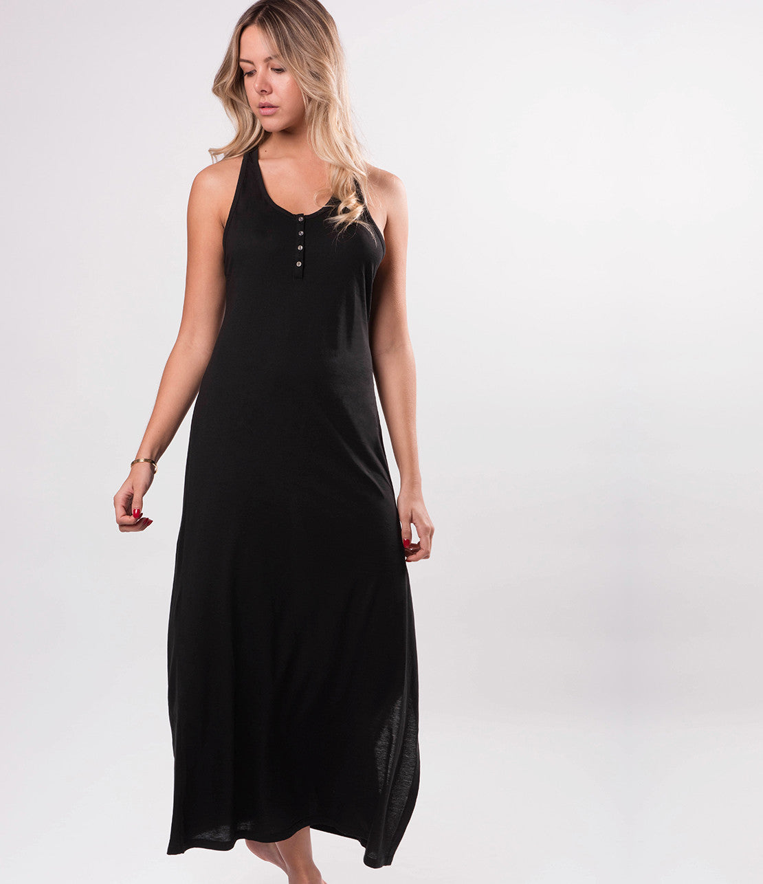 Everyday Pima Cotton Mesh Back Maxi