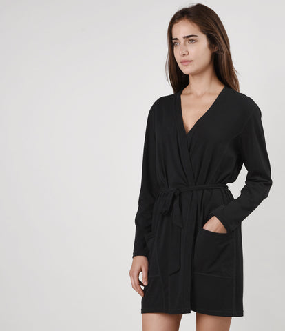 Essential Cotton Stretch Sleep Robe