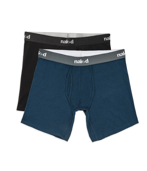 Essential Cotton Stretch Boxer Briefs 2-Pack