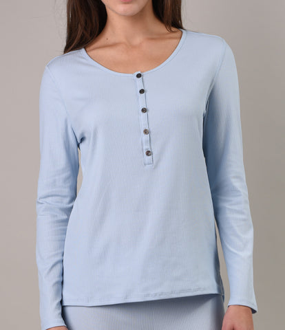 Pima Cotton Rib Henley
