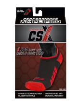 X100, Low Cut, Pro Ankle Socks, Red on Black, Package