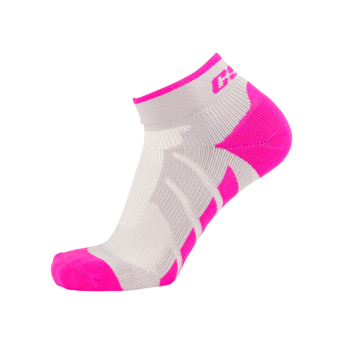 CSX X110 High Cut Pink on Gray Ankle Sock PRO