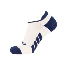 X100, Low Cut, Pro Ankle Socks, Navy Blue on White, Side View