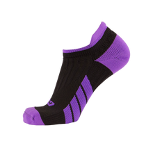 CSX X100 Low Cut Purple on Black Ankle Socks PRO