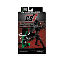 CSX 15-20 mmHg Green on Black Compression Socks Packaging